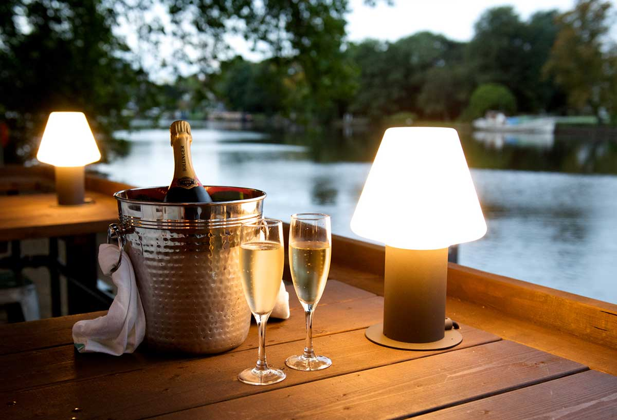 Drinks by the river